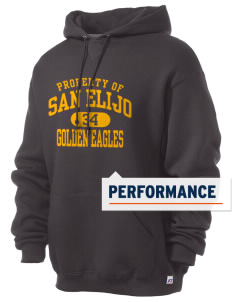 San Elijo Middle School Golden Eagles Russell Men's Dri-Power Hooded Sweatshirt