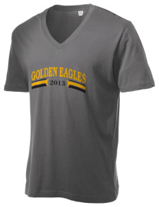 San Elijo Middle School Golden Eagles Alternative Men's 3.7 oz Basic V-Neck T-Shirt