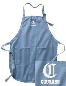 Cascade Christian School Cougars Embroidered Full-Length Apron with Pockets
