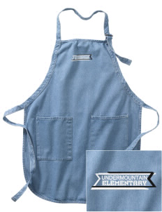 Undermountain Elementary Embroidered Full-Length Apron with Pockets