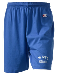 "West Junior High School Warhawks  Champion Women's Gym Shorts, 6"" Inseam"