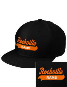 Rockville High School Rams  Embroidered New Era Flat Bill Snapback Cap