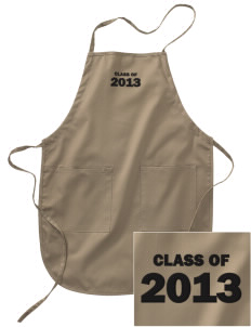 Asa Mercer Middle High Mustangs Embroidered Full Length Apron