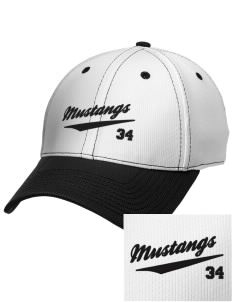 Asa Mercer Middle High Mustangs Embroidered New Era Snapback Performance Mesh Contrast Bill Cap