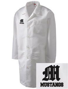 Asa Mercer Middle High Mustangs Full-Length Lab Coat