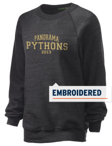 Panorama High School Python Embroidered Unisex Alternative Eco-Fleece Raglan Sweatshirt