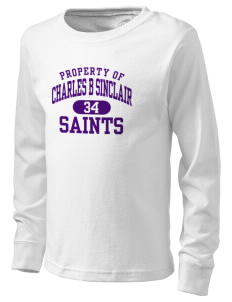 Charles B Sinclair Middle School Saints  Kid's Long Sleeve T-Shirt