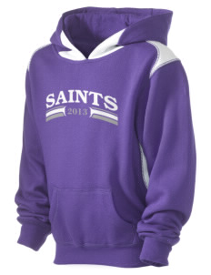 Charles B Sinclair Middle School Saints Kid's Pullover Hooded Sweatshirt with Contrast Color