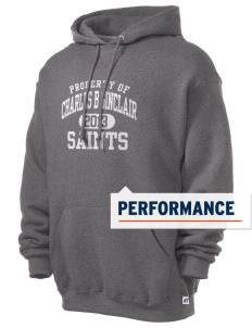 Charles B Sinclair Middle School Saints Russell Men's Dri-Power Hooded Sweatshirt