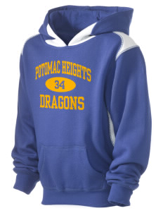 Potomac Heights Elementary School Dragons Kid's Pullover Hooded Sweatshirt with Contrast Color