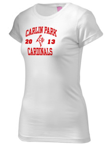 Carlin Park Elementary School Cardinals  Juniors' Fine Jersey Longer Length T-Shirt