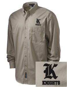 Roche Avenue School Knights Embroidered Men's Twill Shirt