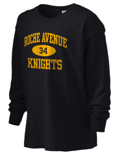 Roche Avenue School Knights Kid's 6.1 oz Long Sleeve Ultra Cotton T-Shirt