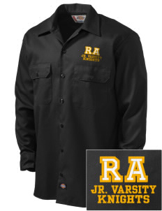 Roche Avenue School Knights Embroidered Dickies Men's Long-Sleeve Workshirt
