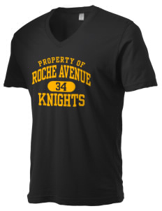 Roche Avenue School Knights Alternative Men's 3.7 oz Basic V-Neck T-Shirt