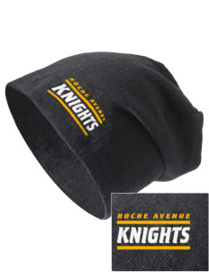 Roche Avenue School Knights Embroidered Slouch Beanie