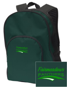 Fairmeadows Elementary School Panthers Embroidered Value Backpack