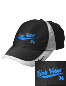 Circle School Circle Wolves Embroidered Nike Golf Colorblock Cap