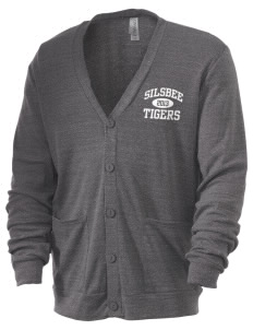 Silsbee High School Tigers Men's 5.6 oz Triblend Cardigan