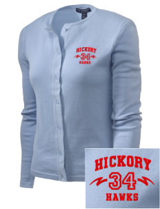 Hickory Elementary School Hawks Embroidered Women's Cardigan Sweater
