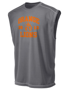 Orange High School Lions Champion Men's 4.1 oz Double Dry Odor Resistance Muscle T-Shirt