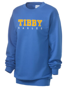 Tibby Elementary School Eagles Unisex 7.8 oz Lightweight Crewneck Sweatshirt