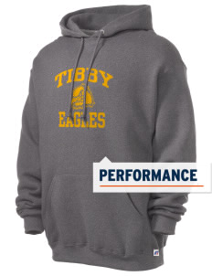 Tibby Elementary School Eagles Russell Men's Dri-Power Hooded Sweatshirt