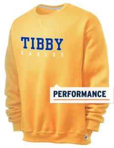 Tibby Elementary School Eagles  Russell Men's Dri-Power Crewneck Sweatshirt