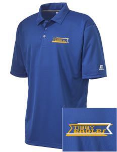 Tibby Elementary School Eagles Embroidered Russell Coaches Core Polo Shirt
