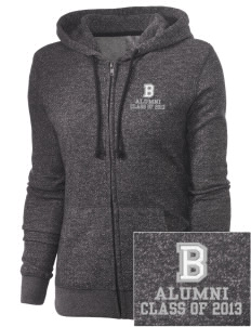 Battle Elementary School Falcons Embroidered Women's Marled Full-Zip Hooded Sweatshirt