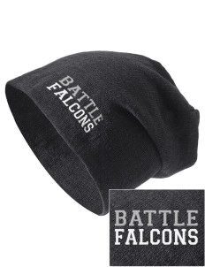 Battle Elementary School Falcons Embroidered Slouch Beanie
