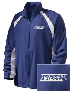 Major Lynn Mokler School Pilots  Embroidered Men's Full Zip Warm Up Jacket