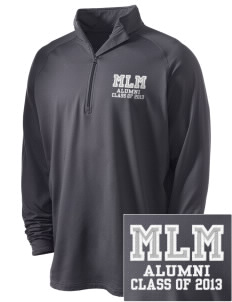 Major Lynn Mokler School Pilots Embroidered Men's Stretched Half Zip Pullover