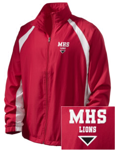 Munford High School Lions  Embroidered Men's Full Zip Warm Up Jacket