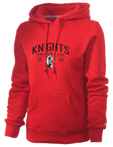 Newman Catholic School Knights Russell Women's Pro Cotton Fleece Hooded Sweatshirt