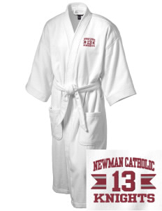 Newman Catholic School Knights Embroidered Terry Velour Robe