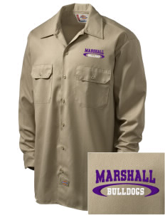 Thurgood Marshall Elementary School Bulldogs Embroidered Dickies Men's Long-Sleeve Workshirt