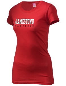 Jamestown Elementary School Panthers  Juniors' Fine Jersey Longer Length T-Shirt