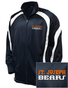 Saint Joseph Junior High School Bears Embroidered Holloway Men's Tricotex Warm Up Jacket