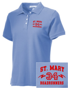 Saint Mary School Roadrunners Embroidered Women's Performance Plus Pique Polo