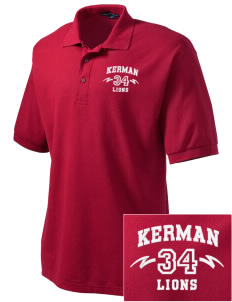 Kerman High School Lions Embroidered Men's Silk Touch Polo