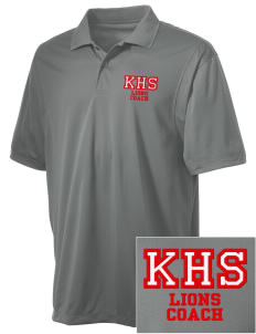 Kerman High School Lions Embroidered Men's Micro Pique Polo