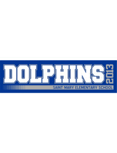 "Saint Mary Elementary School Dolphins Bumper Sticker 11"" x 3"""