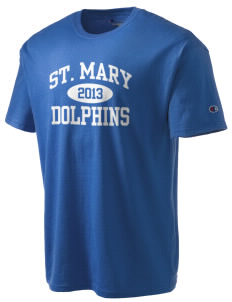 Saint Mary Elementary School Dolphins Champion Men's Tagless T-Shirt