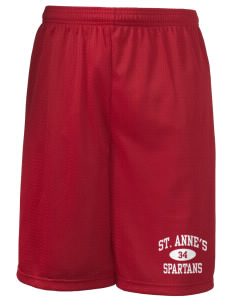 "Saint Anne's School Spartans Long Mesh Shorts, 9"" Inseam"