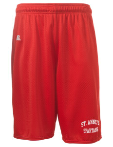 "Saint Anne's School Spartans  Russell Deluxe Mesh Shorts, 10"" Inseam"