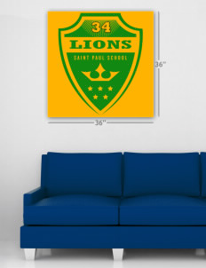 "Saint Paul School Lions Wall Poster Decal 36"" x 36"""