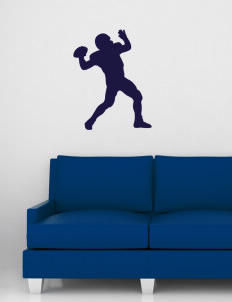 "Yosemite High School Badgers Wall Silhouette Decal 20"" x 32"""