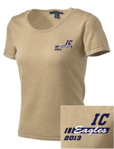 Immaculate Conception School Eagles Embroidered Women's Fine-Gauge Scoop Neck Sweater