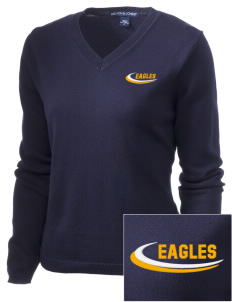 Immaculate Conception School Eagles Embroidered Women's V-Neck Sweater
